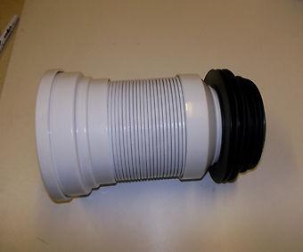 Buy toilet flexible waste soil pan connector 500mm full for 90mm soil pipe